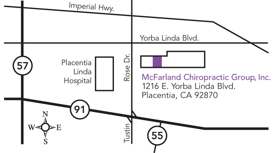 Directions, Map, McFarland Chiropractic, Inc., Placentia ...